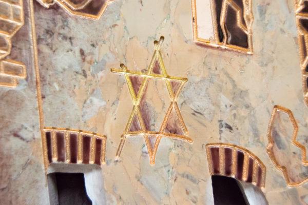 Каменная Картина Оммаж духовному дому отца Шагала № 04, изображение, фото 15