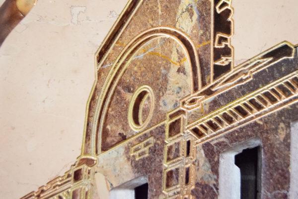 Каменная Картина Оммаж духовному дому отца Шагала № 04, изображение, фото 20