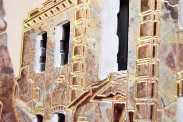 Каменная Картина Оммаж духовному дому отца Шагала № 04, изображение, фото 21