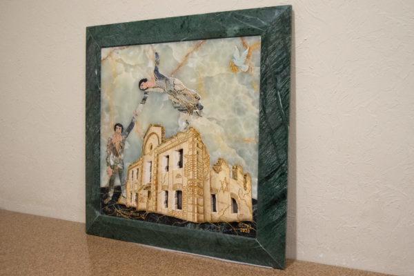 Каменная Картина Оммаж духовному дому отца Шагала № 05, изображение, фото 2