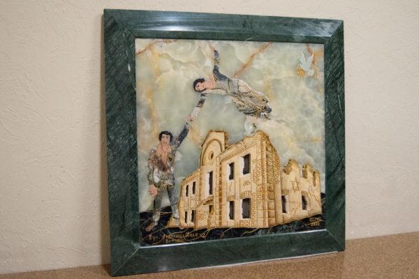Каменная Картина Оммаж духовному дому отца Шагала № 05, изображение, фото 3