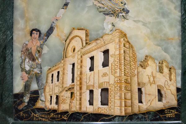 Каменная Картина Оммаж духовному дому отца Шагала № 05, изображение, фото 4