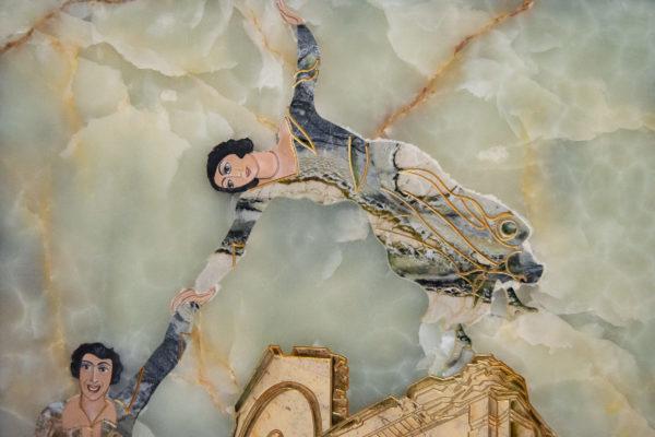 Каменная Картина Оммаж духовному дому отца Шагала № 05, изображение, фото 6