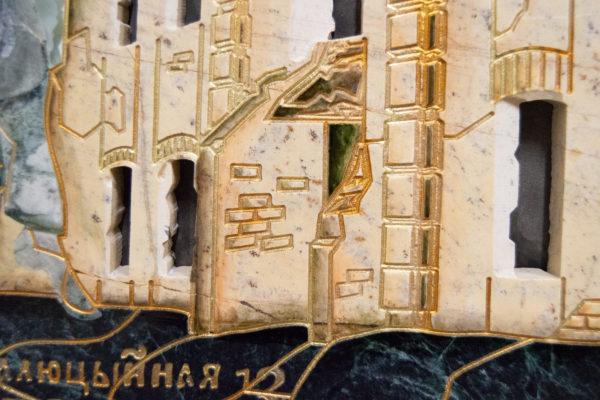 Каменная Картина Оммаж духовному дому отца Шагала № 05, изображение, фото 12