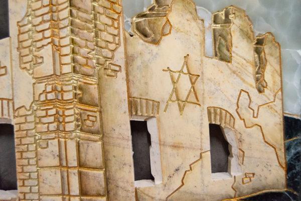 Каменная Картина Оммаж духовному дому отца Шагала № 05, изображение, фото 13