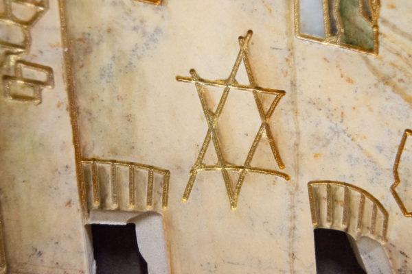 Каменная Картина Оммаж духовному дому отца Шагала № 05, изображение, фото 14