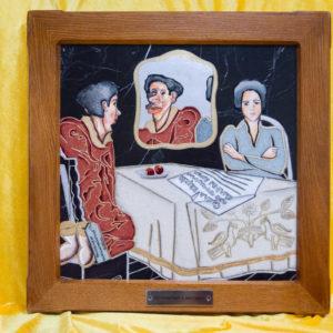 Каменная Картина Автопортрет в зеркале № 04 (Сутин), изображение, фото 1