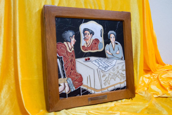 Каменная Картина Автопортрет в зеркале № 04 (Сутин), изображение, фото 3