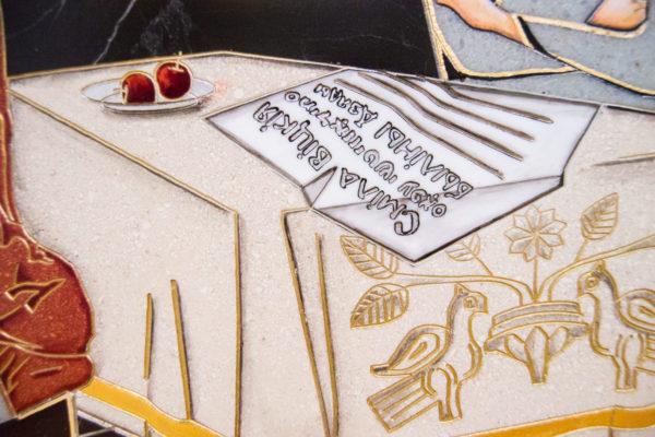 Каменная Картина Автопортрет в зеркале № 04 (Сутин), изображение, фото 4