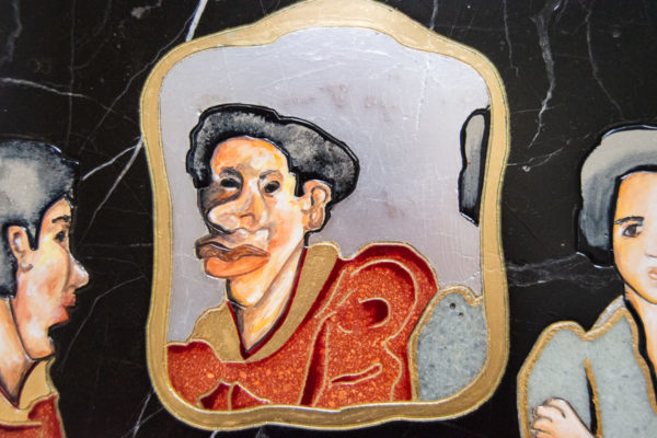 Каменная Картина Автопортрет в зеркале № 04 (Сутин), изображение, фото 10