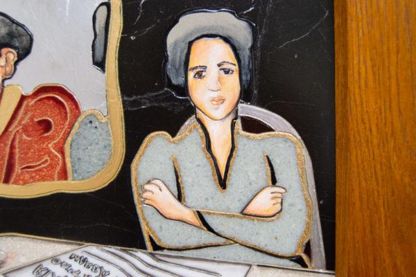 Каменная Картина Автопортрет в зеркале № 04 (Сутин), изображение, фото 11