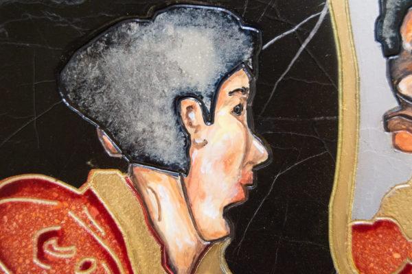 Каменная Картина Автопортрет в зеркале № 04 (Сутин), изображение, фото 13