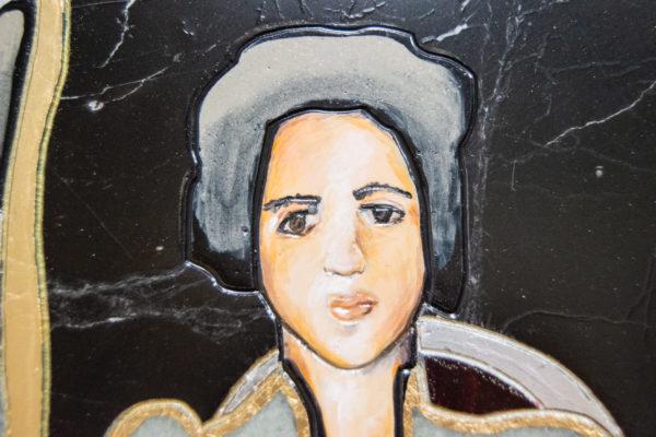 Каменная Картина Автопортрет в зеркале № 04 (Сутин), изображение, фото 14