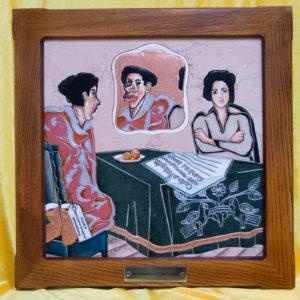 Каменная Картина Автопортрет в зеркале № 05 (Сутин), изображение, фото 1