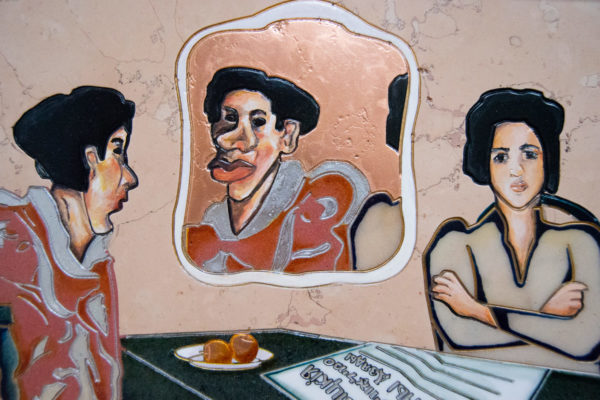 Каменная Картина Автопортрет в зеркале № 05 (Сутин), изображение, фото 4