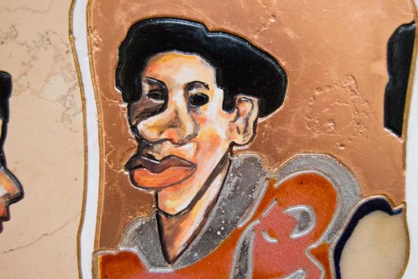 Каменная Картина Автопортрет в зеркале № 05 (Сутин), изображение, фото 10