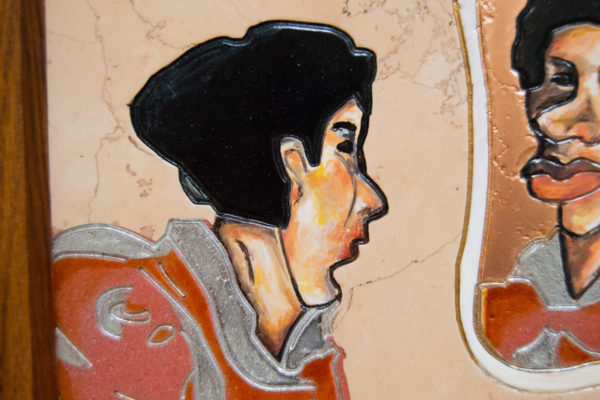 Каменная Картина Автопортрет в зеркале № 05 (Сутин), изображение, фото 11