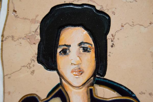 Каменная Картина Автопортрет в зеркале № 05 (Сутин), изображение, фото 13