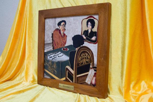 Каменная Картина Ева и ее автор № 03 (Сутин), изображение, фото 2
