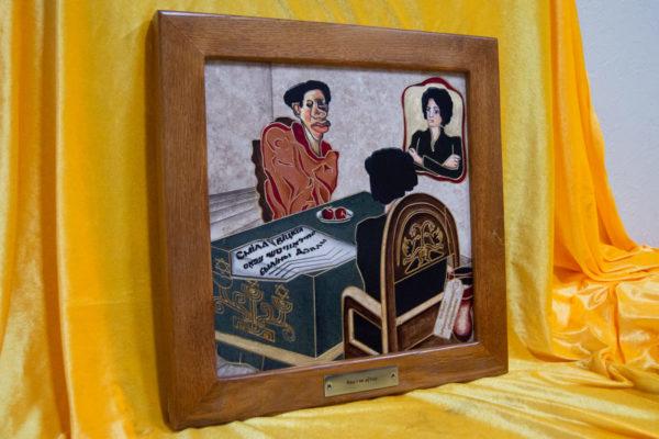 Каменная Картина Ева и ее автор № 03 (Сутин), изображение, фото 3