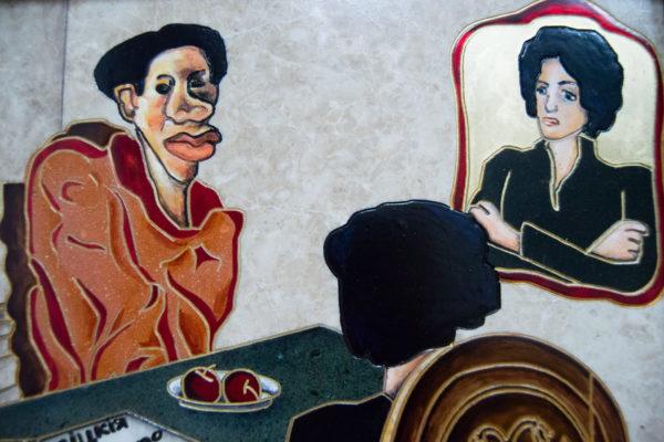 Каменная Картина Ева и ее автор № 03 (Сутин), изображение, фото 5