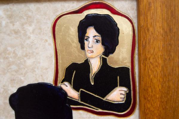 Каменная Картина Ева и ее автор № 03 (Сутин), изображение, фото 12