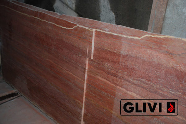 Натуральный камень, Травертин Rosso Persiano, фото 4