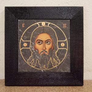 Икона Иисуса Христа - Спас Нерукотворный № 5-5 из мрамора, изображение, фото 1