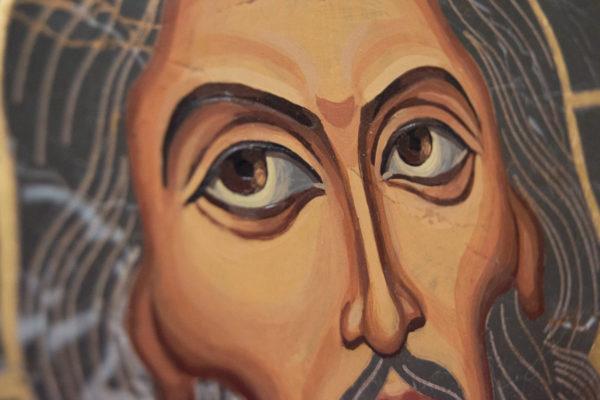 Икона Иисуса Христа - Спас Нерукотворный № 5-5 из мрамора, изображение, фото 4