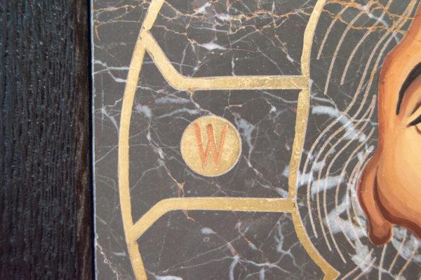 Икона Иисуса Христа - Спас Нерукотворный № 5-5 из мрамора, изображение, фото 5