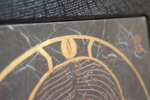Икона Иисуса Христа - Спас Нерукотворный № 5-5 из мрамора, изображение, фото 7