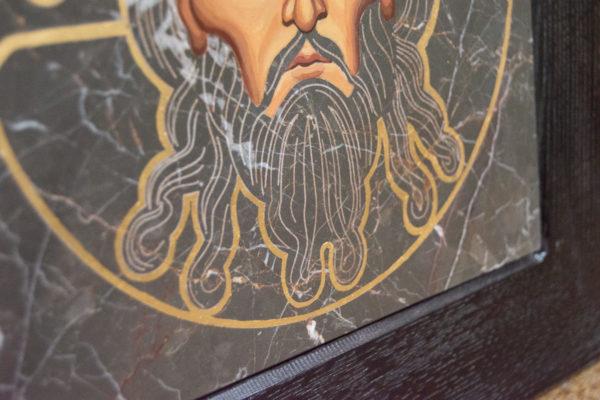 Икона Иисуса Христа - Спас Нерукотворный № 5-5 из мрамора, изображение, фото 9