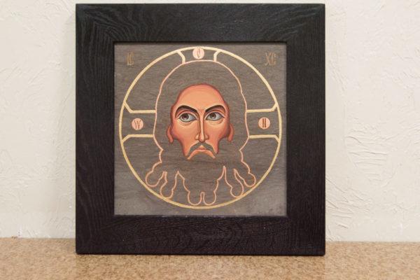 Икона Иисуса Христа - Спас Нерукотворный № 5-6 из мрамора, изображение, фото 1