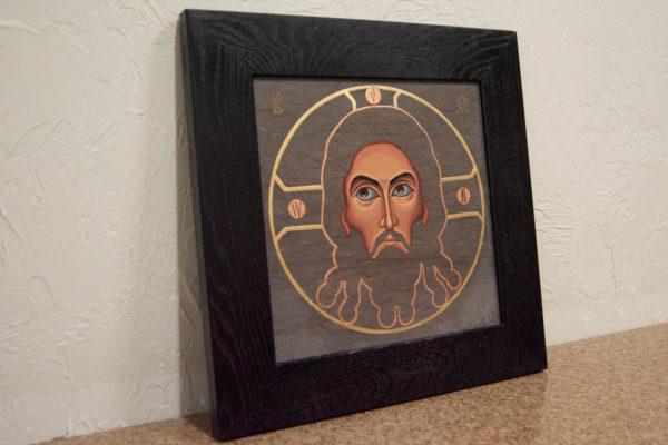 Икона Иисуса Христа - Спас Нерукотворный № 5-6 из мрамора, изображение, фото 3