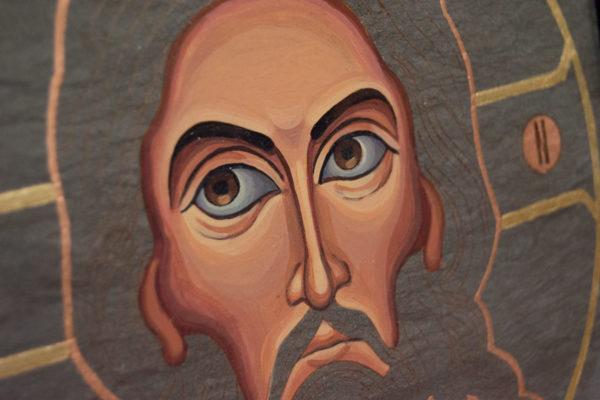 Икона Иисуса Христа - Спас Нерукотворный № 5-6 из мрамора, изображение, фото 4