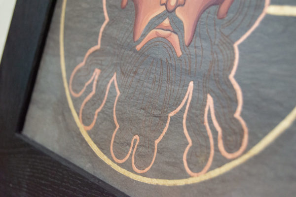 Икона Иисуса Христа - Спас Нерукотворный № 5-6 из мрамора, изображение, фото 8