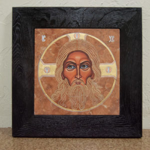 Икона Иисуса Христа - Спас Нерукотворный № 5-7 из мрамора, изображение, фото 1
