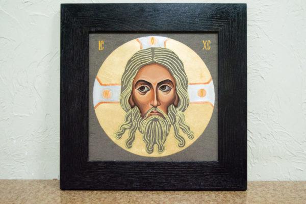 Икона Иисуса Христа - Спас Нерукотворный № 5-8 из мрамора, изображение, фото 1