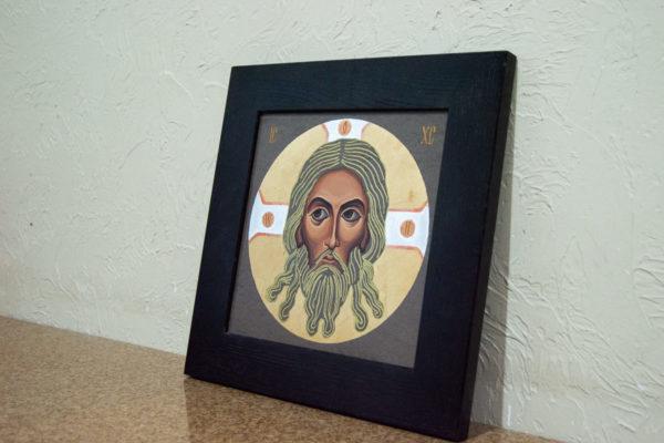 Икона Иисуса Христа - Спас Нерукотворный № 5-8 из мрамора, изображение, фото 2
