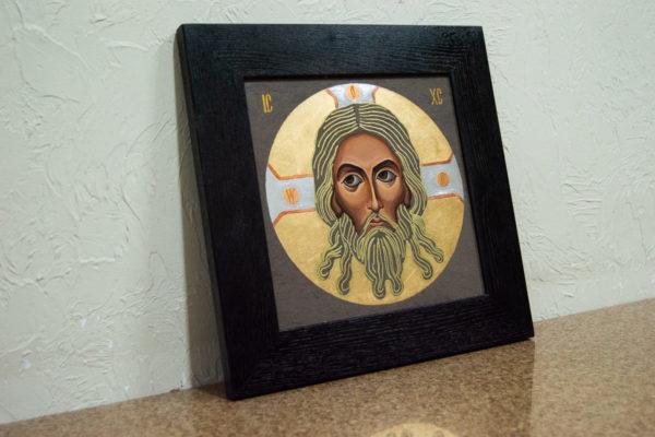 Икона Иисуса Христа - Спас Нерукотворный № 5-8 из мрамора, изображение, фото 3