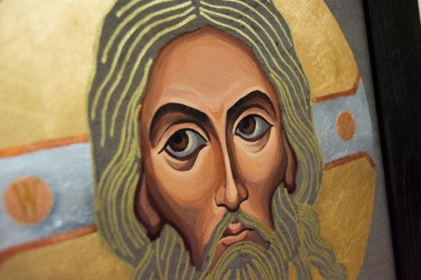 Икона Иисуса Христа - Спас Нерукотворный № 5-8 из мрамора, изображение, фото 4