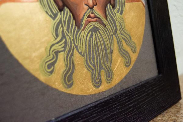 Икона Иисуса Христа - Спас Нерукотворный № 5-8 из мрамора, изображение, фото 5
