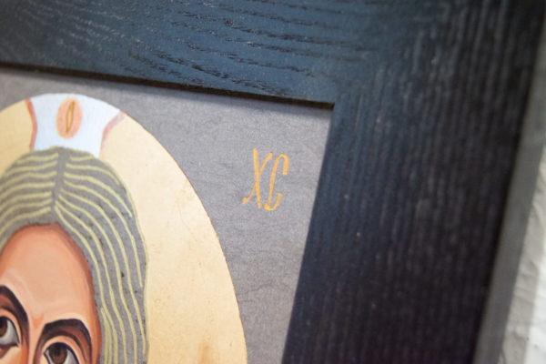 Икона Иисуса Христа - Спас Нерукотворный № 5-8 из мрамора, изображение, фото 6