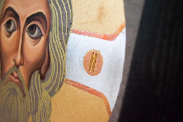 Икона Иисуса Христа - Спас Нерукотворный № 5-8 из мрамора, изображение, фото 7