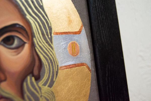 Икона Иисуса Христа - Спас Нерукотворный № 5-8 из мрамора, изображение, фото 9
