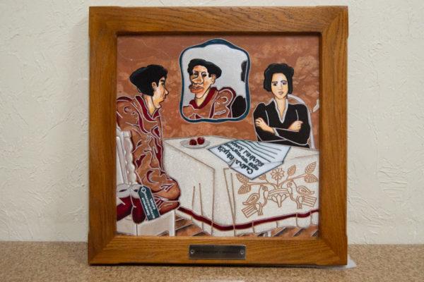 Каменная Картина Автопортрет в зеркале № 06 (Сутин), изображение, фото 1