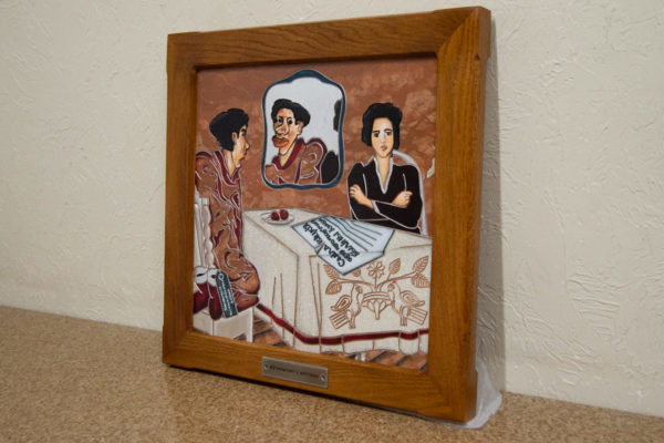 Каменная Картина Автопортрет в зеркале № 06 (Сутин), изображение, фото 2