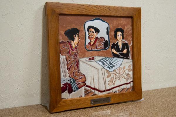 Каменная Картина Автопортрет в зеркале № 06 (Сутин), изображение, фото 3