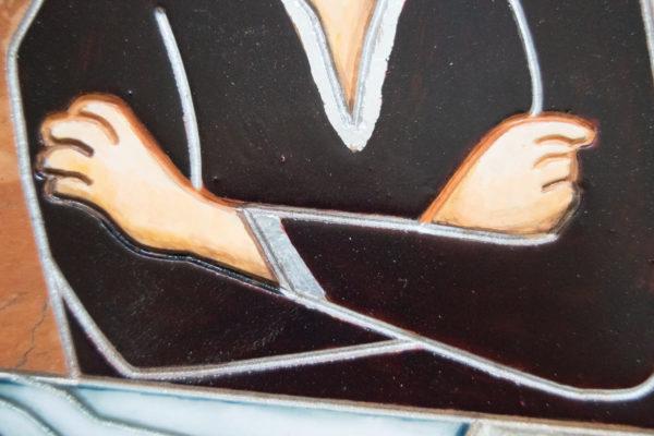 Каменная Картина Автопортрет в зеркале № 06 (Сутин), изображение, фото 8