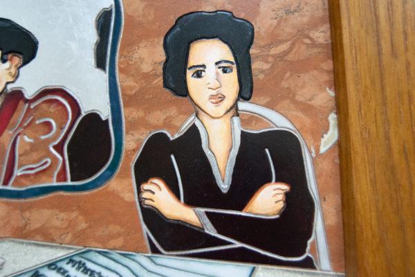 Каменная Картина Автопортрет в зеркале № 06 (Сутин), изображение, фото 10